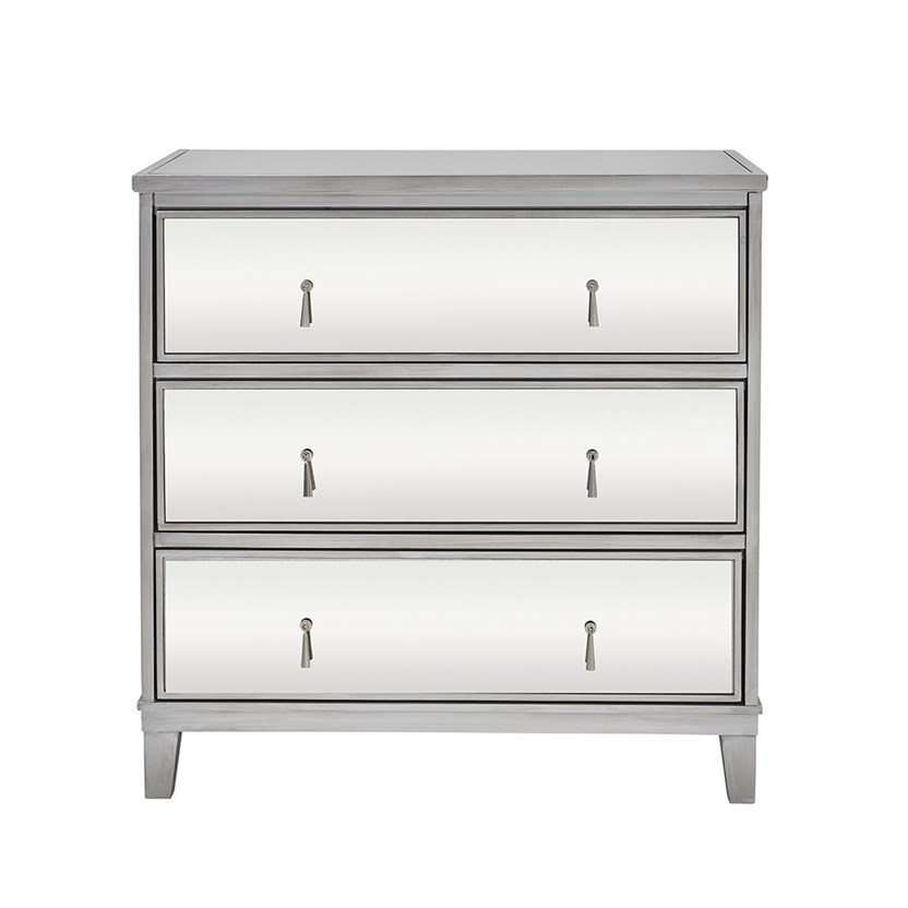 Gatsby Mirrored Silver 3 Drawer Chest
