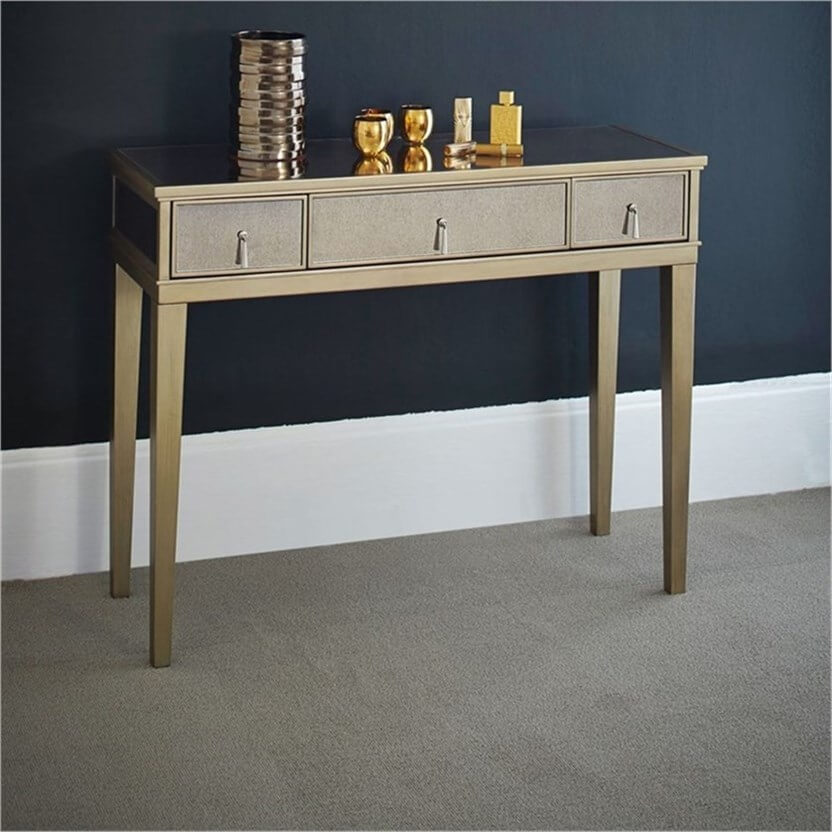 Refurbished Gatsby Gold Mirror Console Table